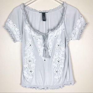 INC   INTERNATIONAL CONCEPTS Grey Short Sleeve Top